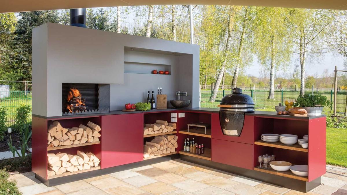 Außenküche Mit Spüle : Outdoorküche bau beispiele und fertige außenküchen youtube
