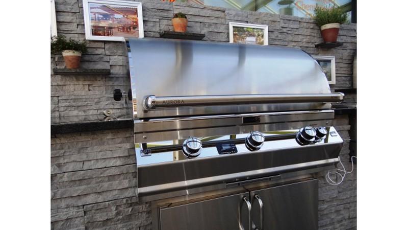 Außenküche Mit Gasgrill : OutdoorkÜche aussenkÜche mit gasgrill spüle schränke arbeitsplatz