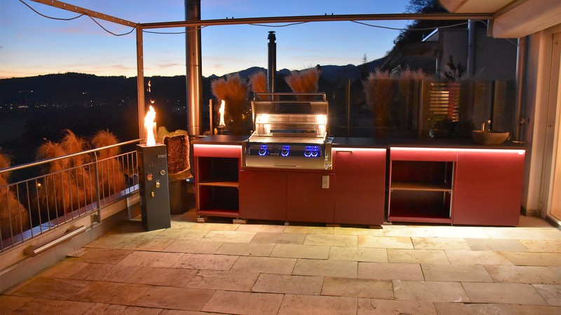 CUBIC Outdoor-Küche mit Fire Magic Gasgrill