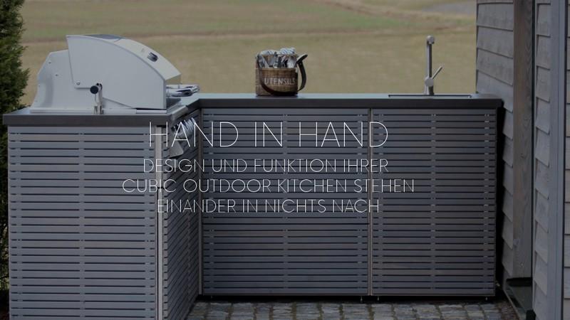 Outdoor Küchen Schweiz : Aussenküchen cubic by herrenhaus aussenküchen hico feuerland